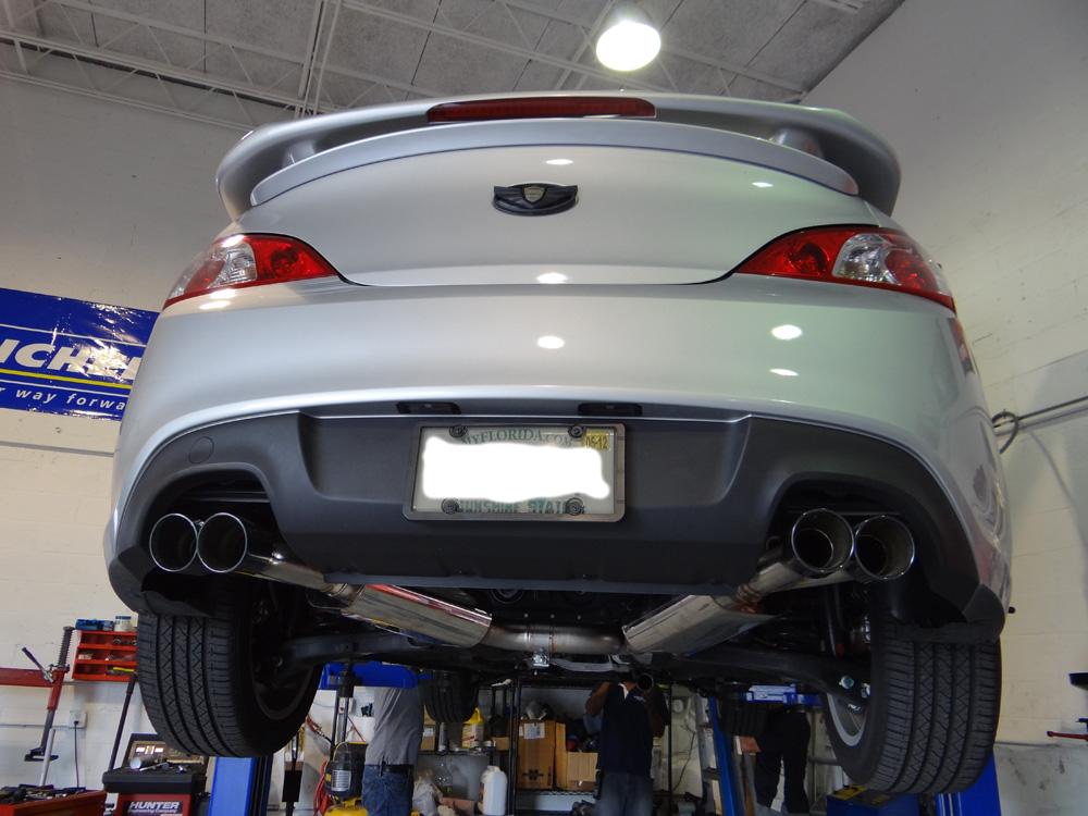 Hyundai Genesis Silver Cp E Exhaust Downpipe Cp E Front