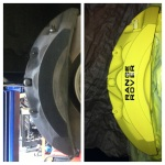Brake Calipers Before and After
