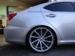 Lexus IS-F on Vossen 20x10.5 in the rear