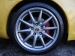 Stock 911 Cabrio wheels. Calipers painted in factory Porsche red.